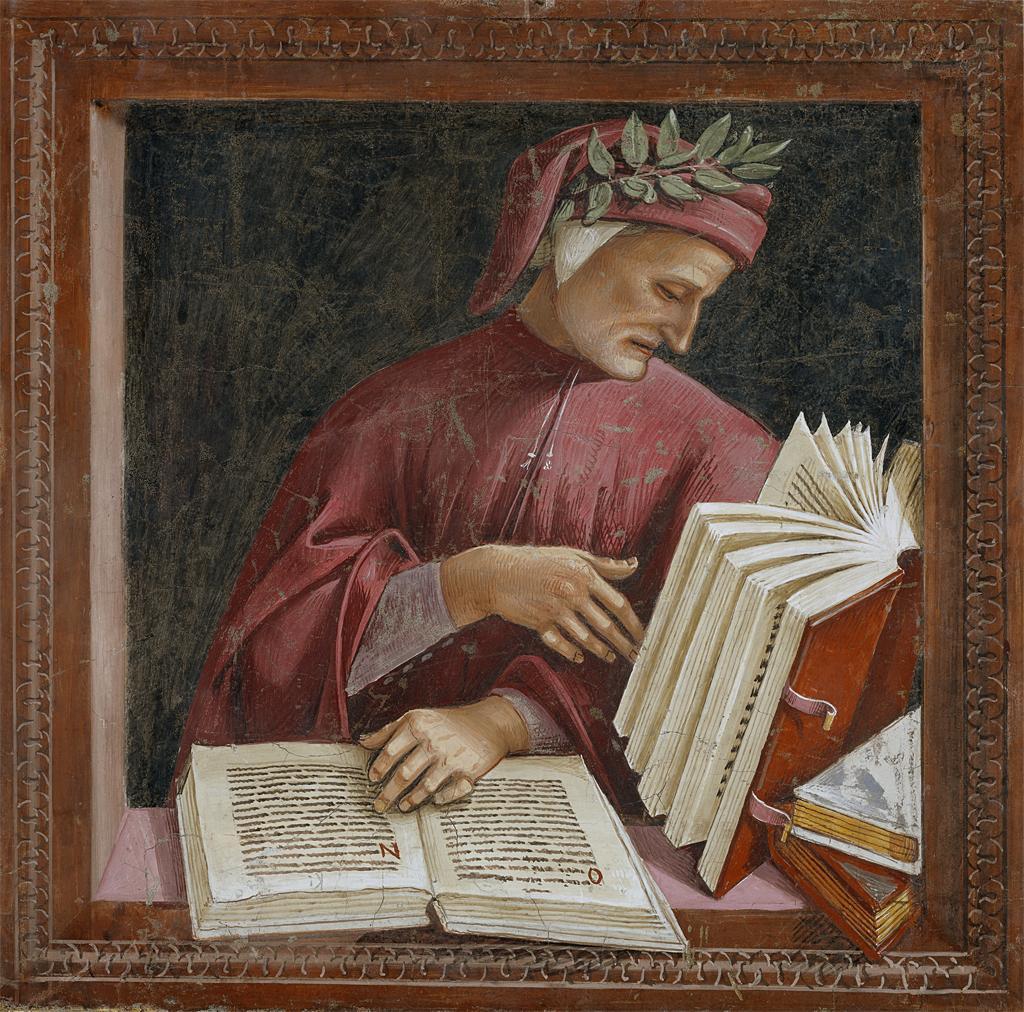 Dante Alighieri, detail from a Luca Signorelli...