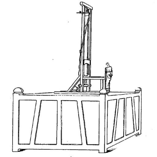 Dessin de la guillotine primitive