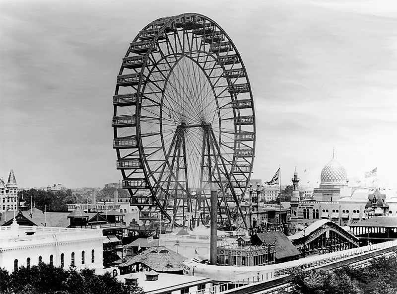 Ferris' wheel at the Chicago Columbian Exposition of 1892