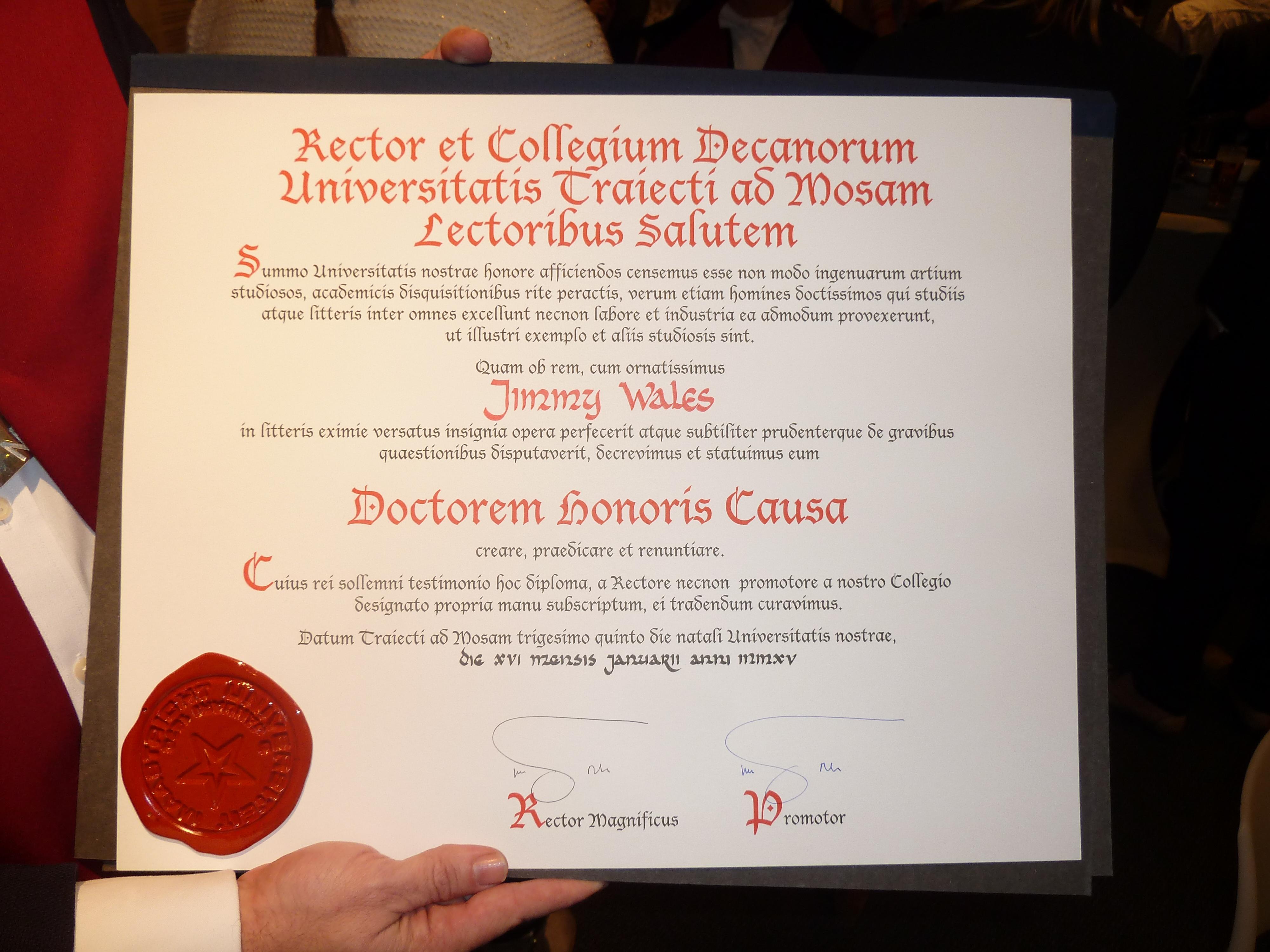 Honorary degree  Wikiwand