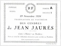Transfert cendres Jaurès Pantheon - invitation