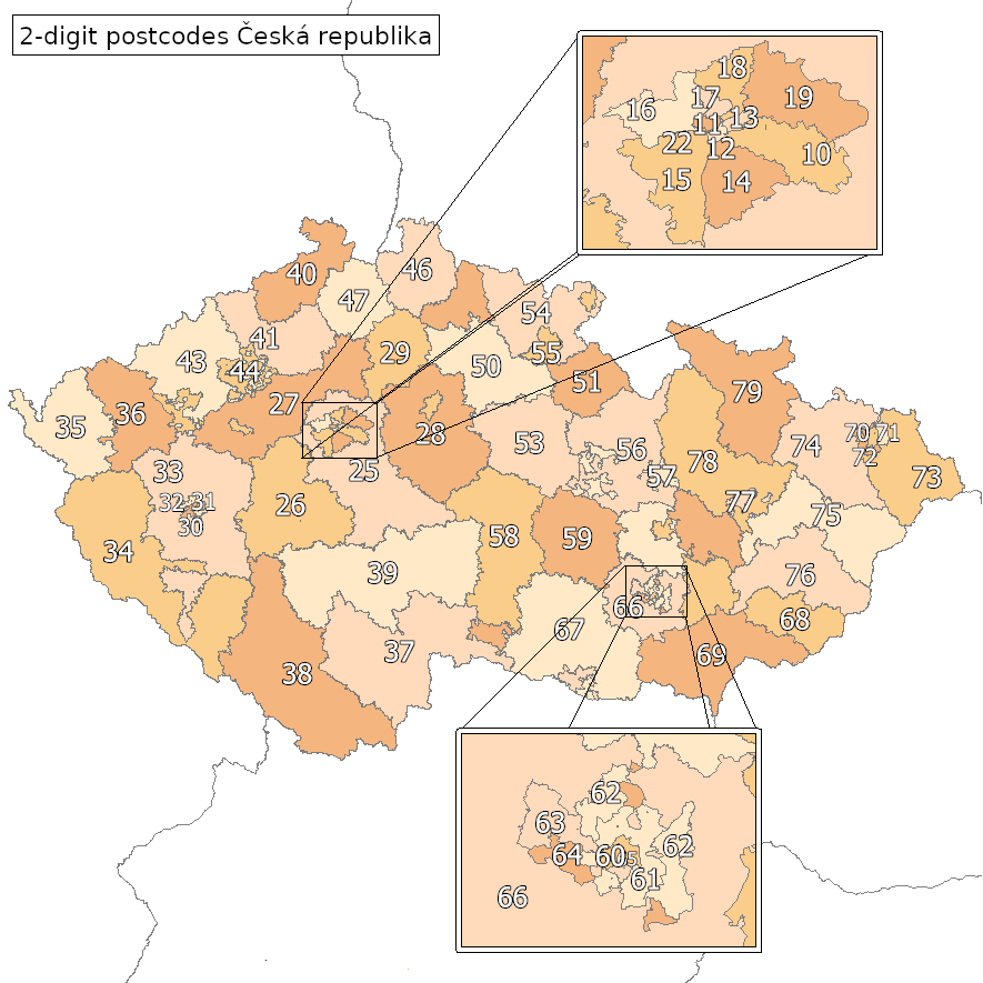 postal codes in the czech republic