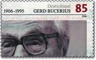 Briefmarke Gerd Bucerius anlässlich des 100. G...
