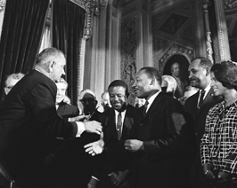 President Lyndon B. Johnson Martin Luther King...