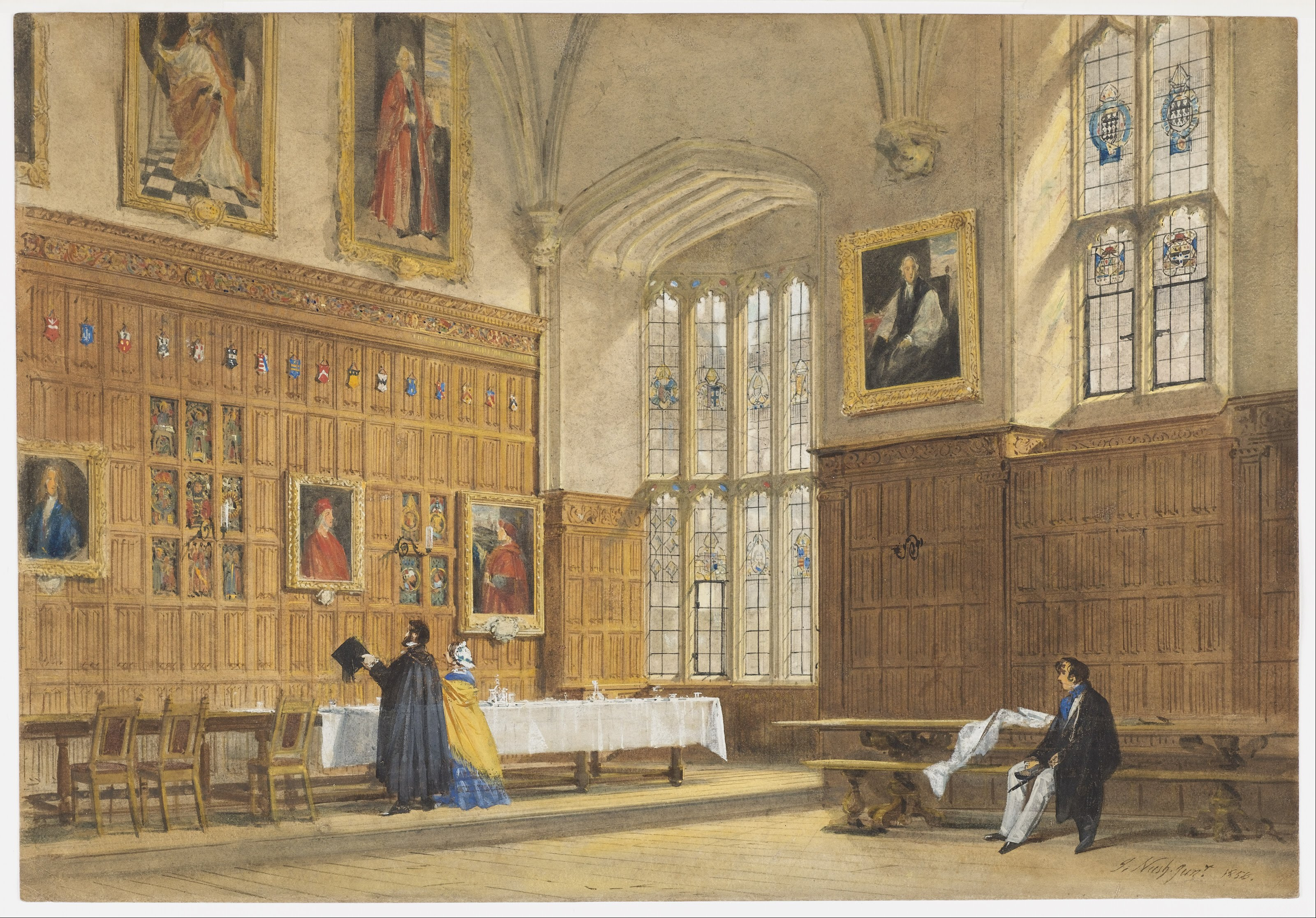 FileJoseph Nash The Elder  View of the Dining Hall in