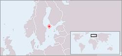 Vị trí của Åland