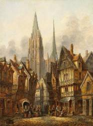 File:Dommersen Gothic cathedral in a medieval city jpg Wikimedia Commons