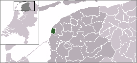 Location of Harlingen in Northern Netherlands - Friesland