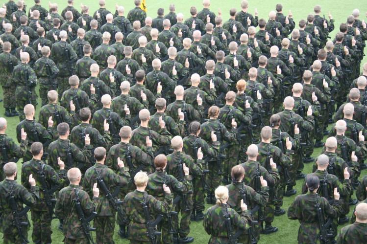 В Финляндии военную службу могут проходить как женщины, так и мужчины.