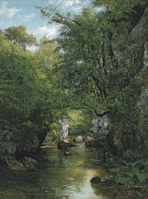 Gustave Courbet, Le ruisseau de la Brême (1866)