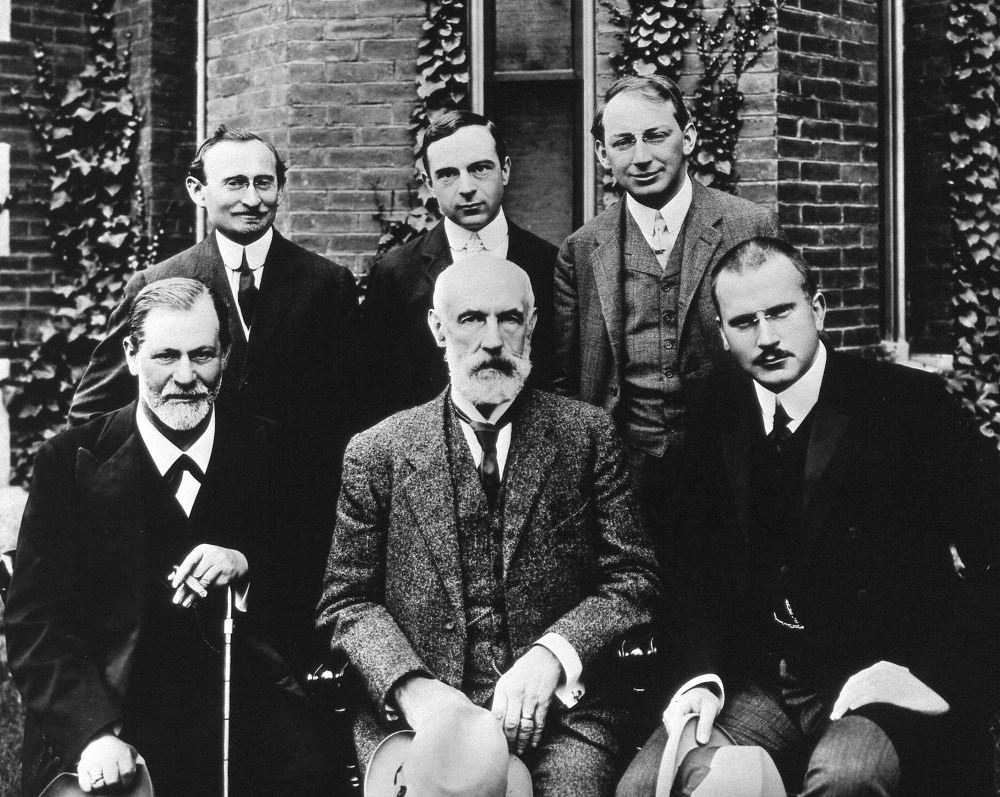 medium resolution of located at http upload wikimedia org wikipedia commons e e1 hall freud jung in front of clark 1909 jpg
