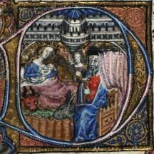 Mary feeding the infant Jesus detail