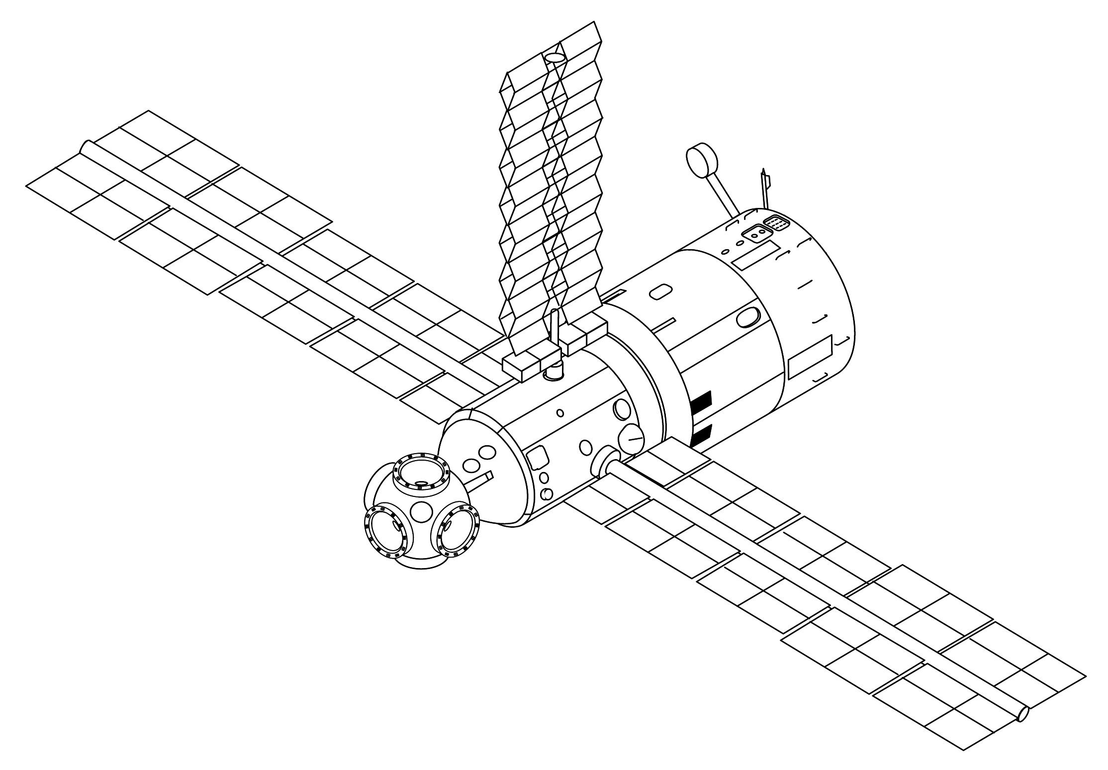 File:Mir Core Module Three Panels 1987 configuration