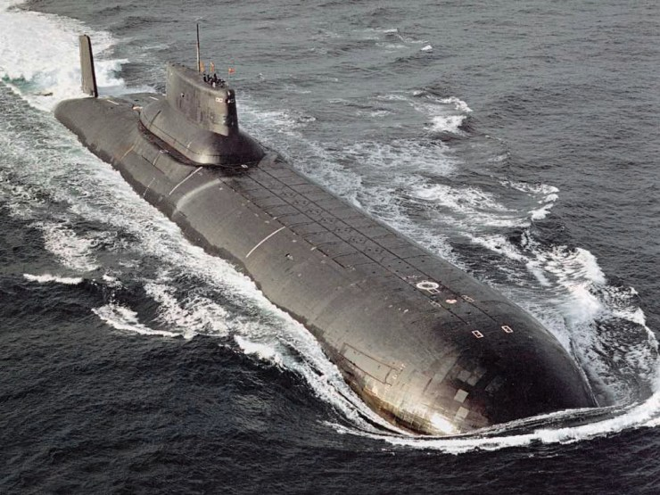 Image result for typhoon class submarine