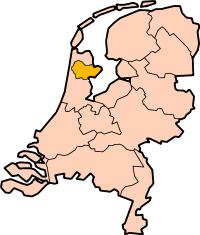 Kaart van West-Friesland