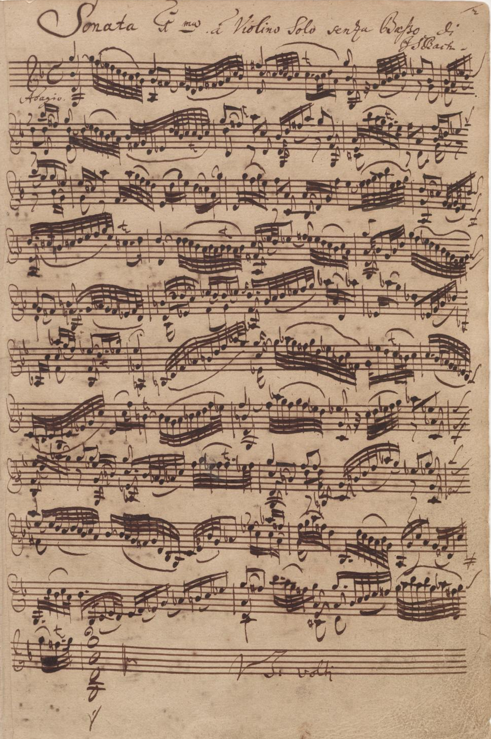 Sonata for single violin #1 in E minor BWV 1001, Johann Sebastian Bach