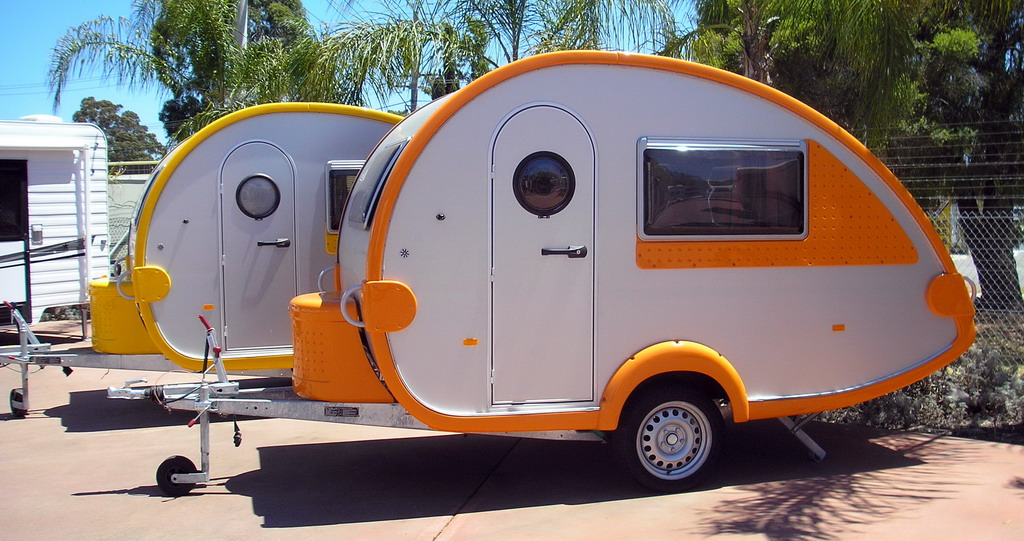 copyright nachoman-au Two Tabbert T@b caravans on display