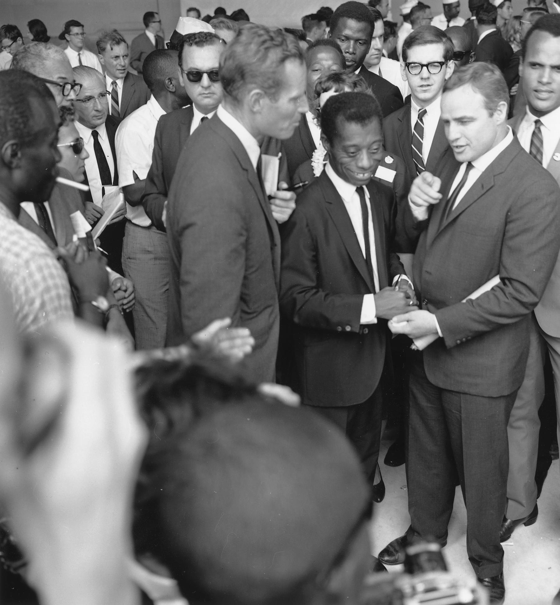 File Heston Baldwin Brando Civil Rights March