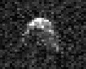 4660 Nereus, one of the easiest of the NEAs to reach, easier than the Moon, it's about 0.3 kms across