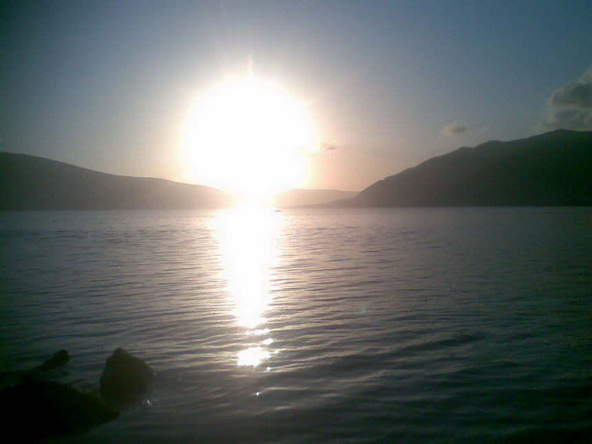Sunset in Tivat, Montenegro