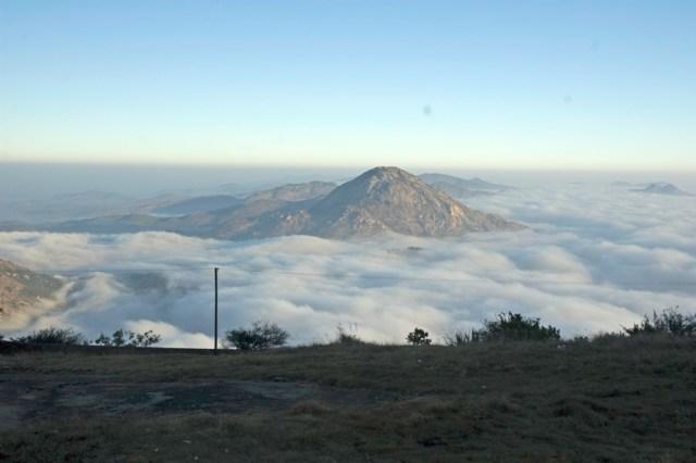 Nandi Hills India hill station scenic clouds