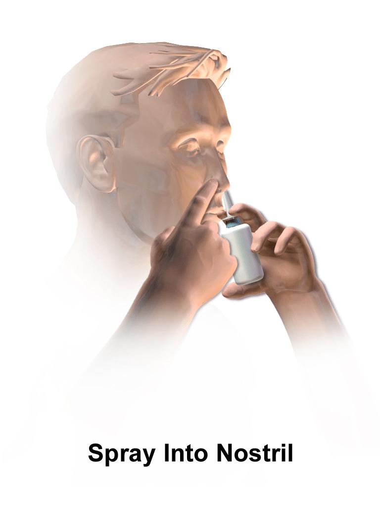hight resolution of diagram of nasal spray application