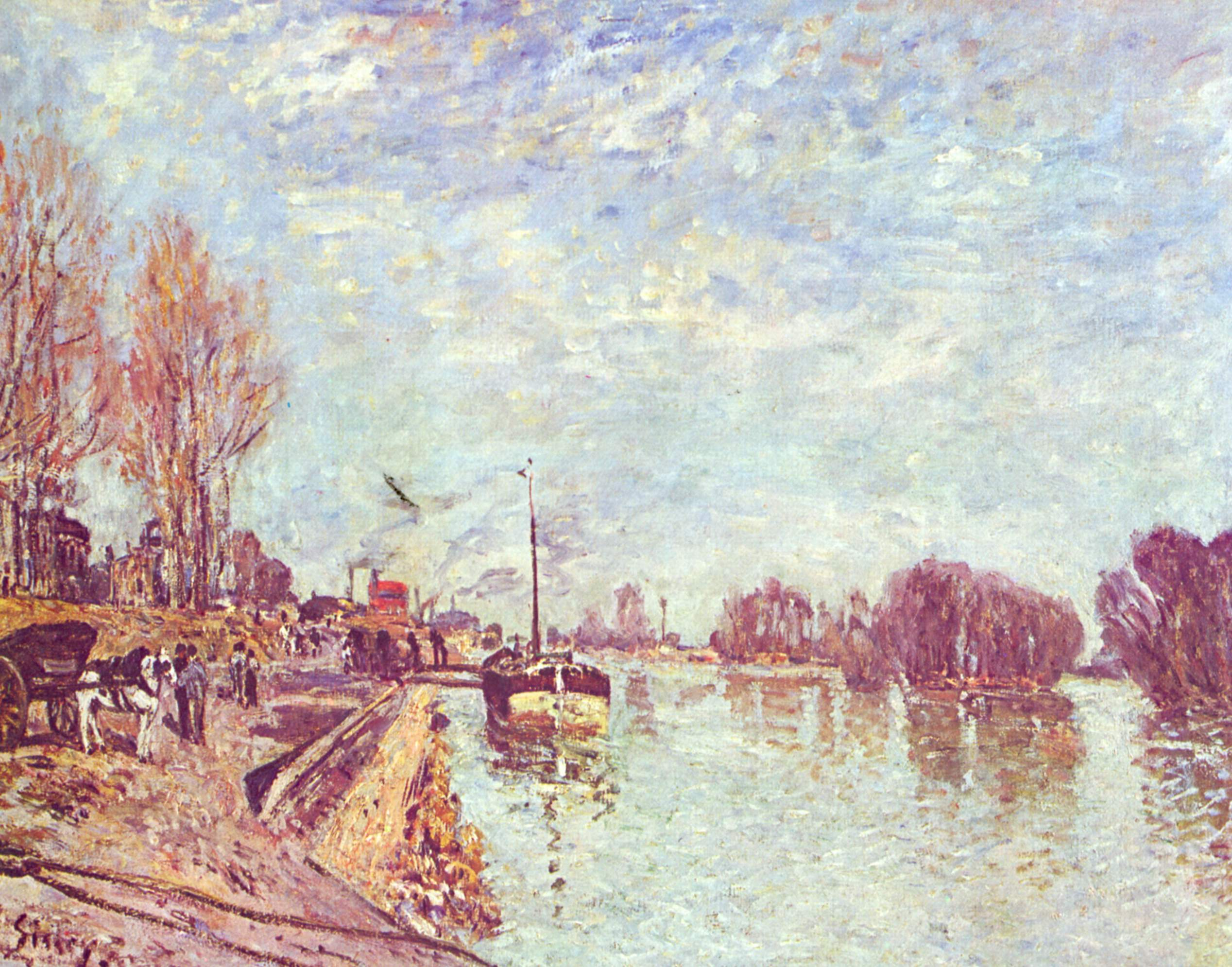 Albert Sisley - Siene are Suresnes