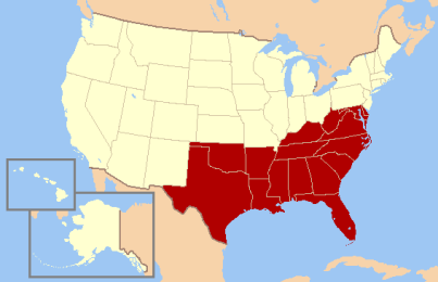 """The """"south"""" in the US"""