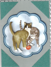 Greeting card with cats on