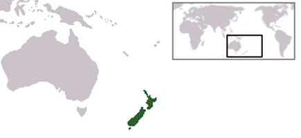 Lokasi Selandia Baru