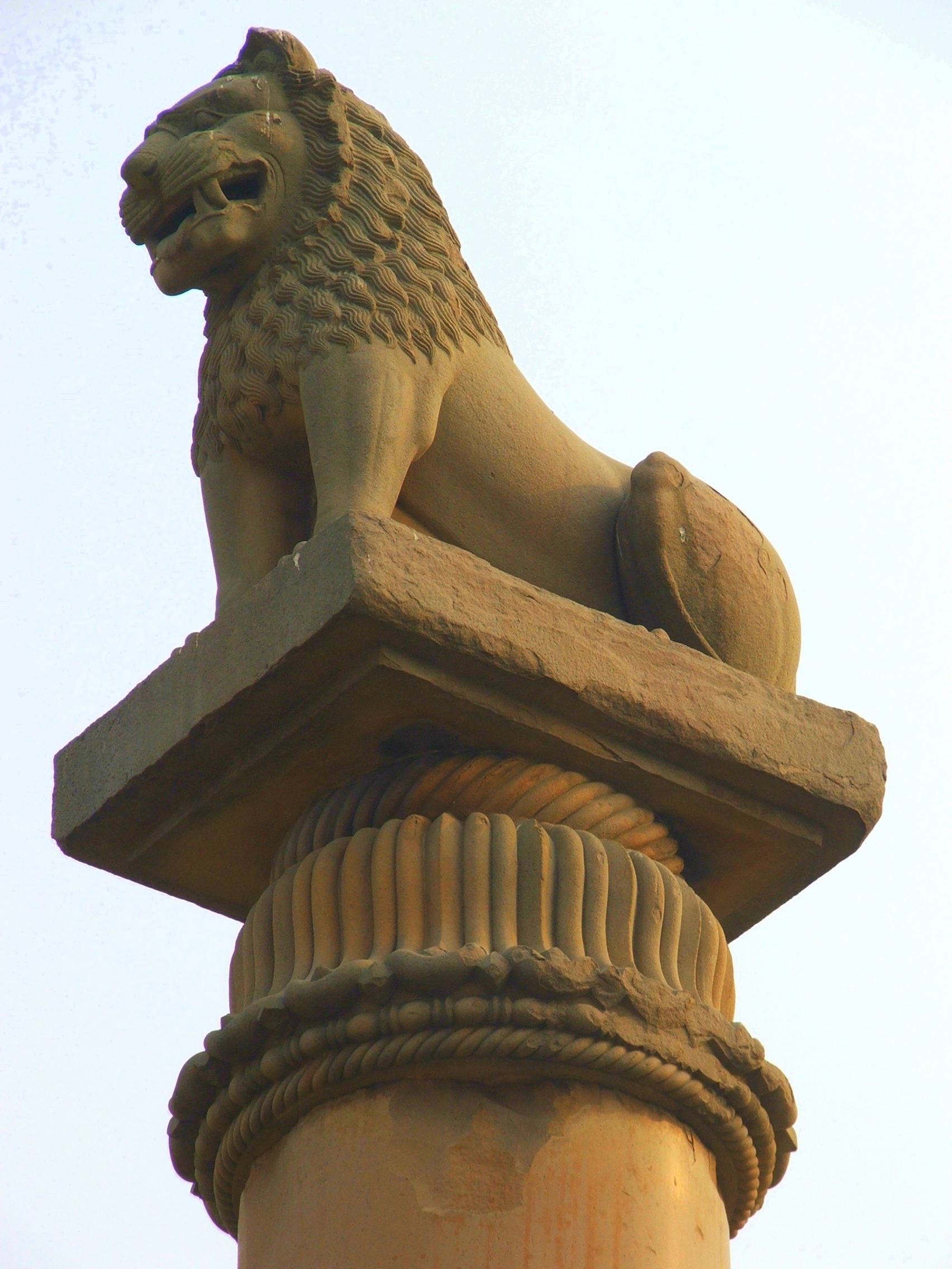 Asokan pillar at Vaishali, Bihar, India
