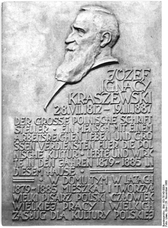 Kraszewski-Gedenktafel am Haus