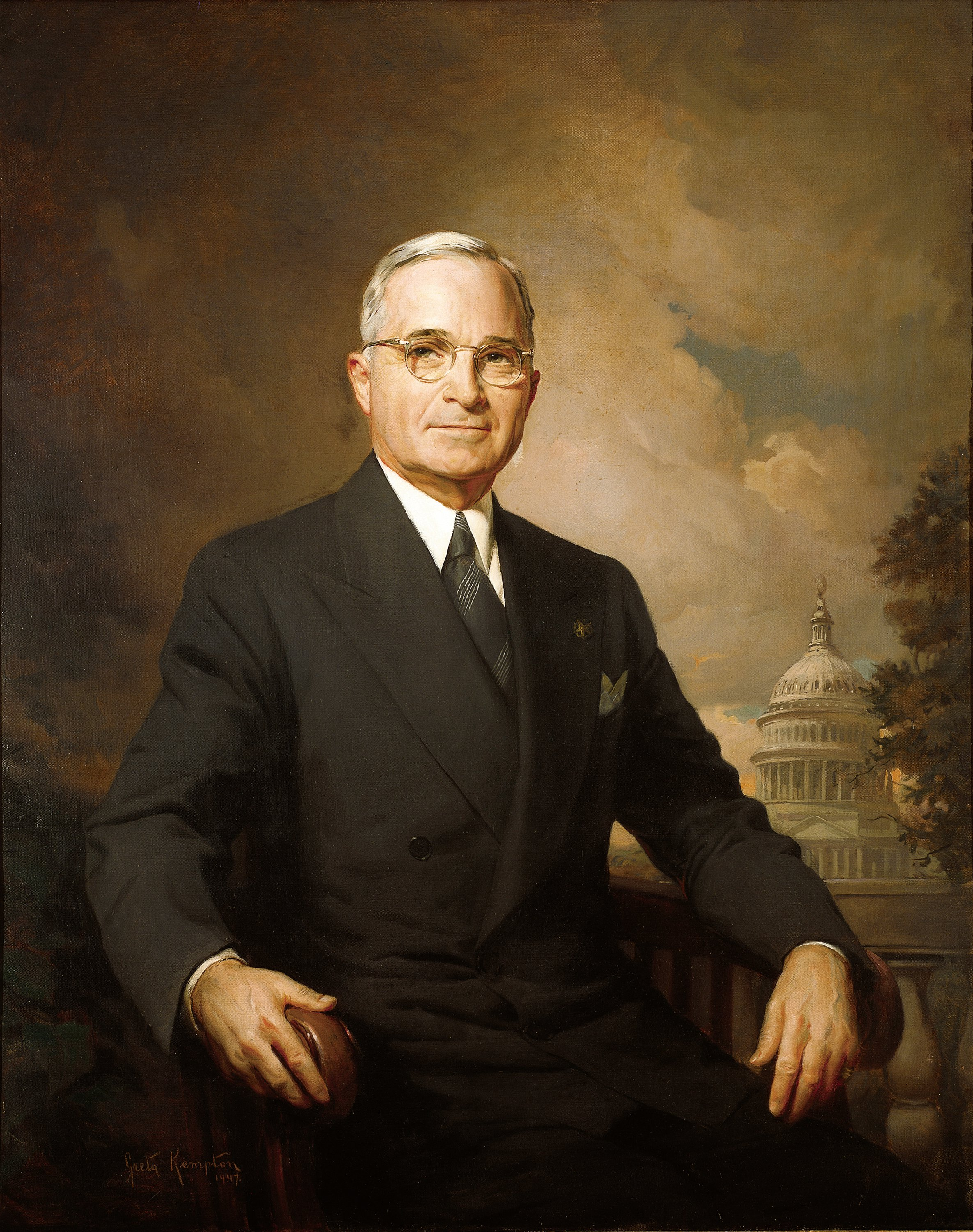 Presidential portrait of Harry Truman. Officia...