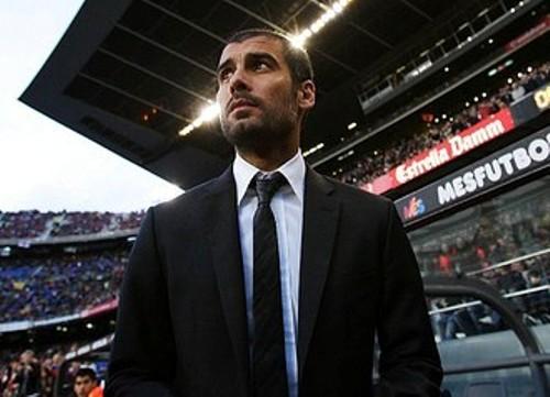 Guardiola en el Camp Nou