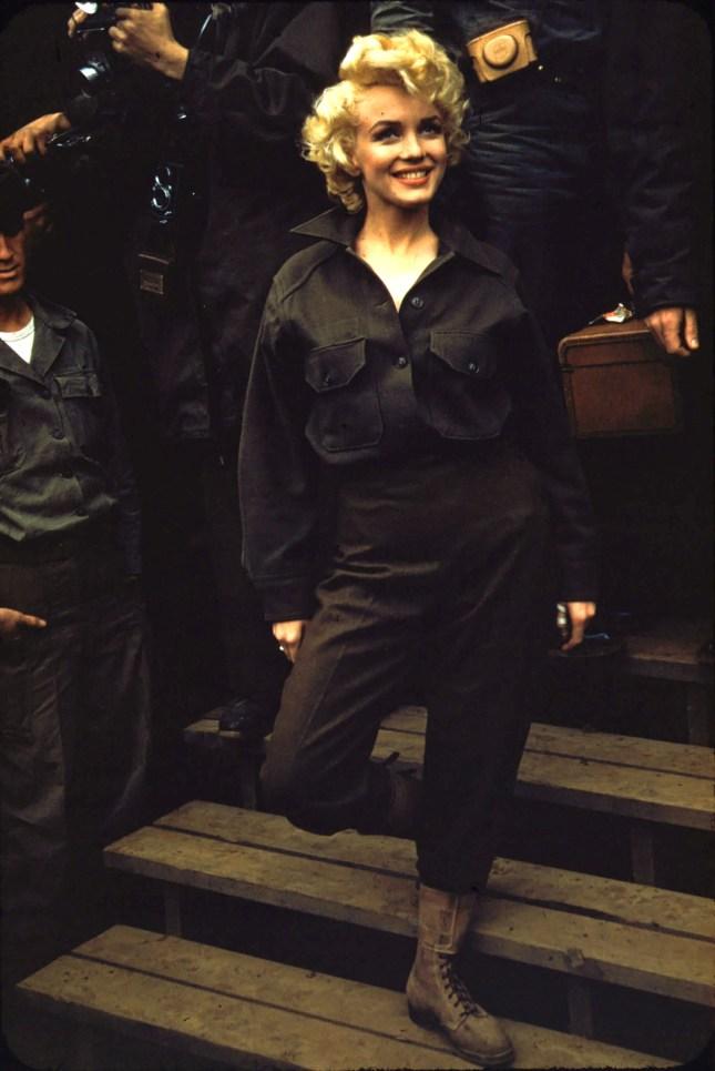 Date: 1 January 1954 SourceFlickr: Marilyn Monroe, Korea, 1954