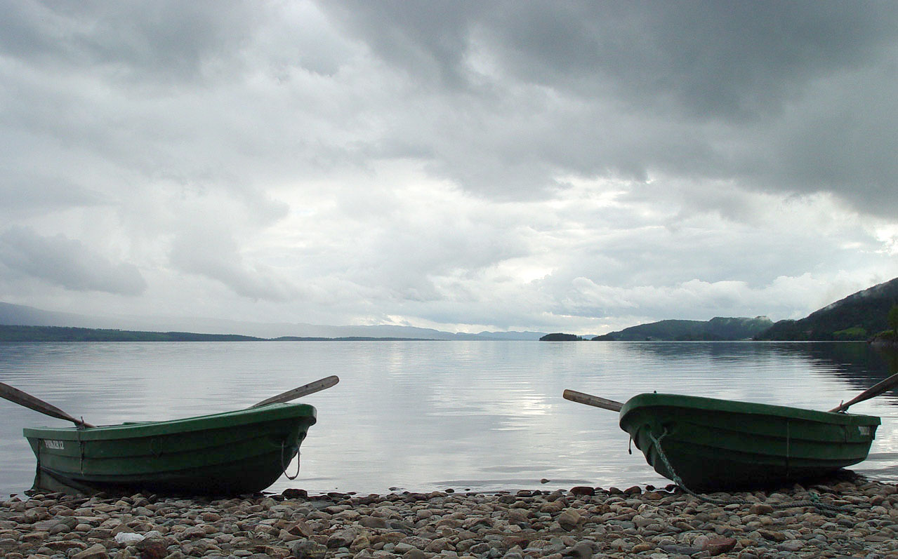 Lake Snåsavatn in Norway before a thunderstorm...