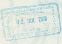 Image result for venezuelan passport stamp