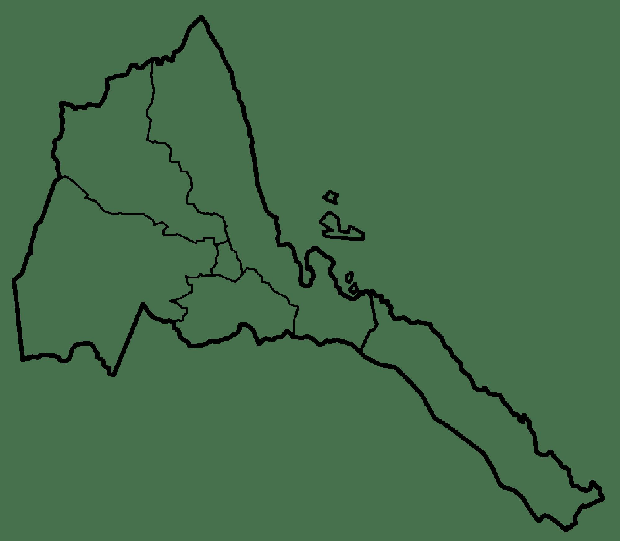 Eritrea Regionen Karte