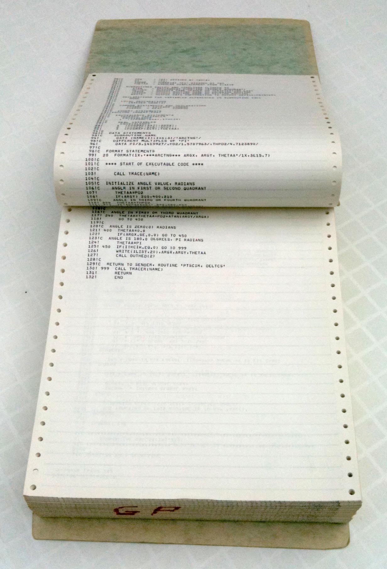 File Bound Computer Printout R