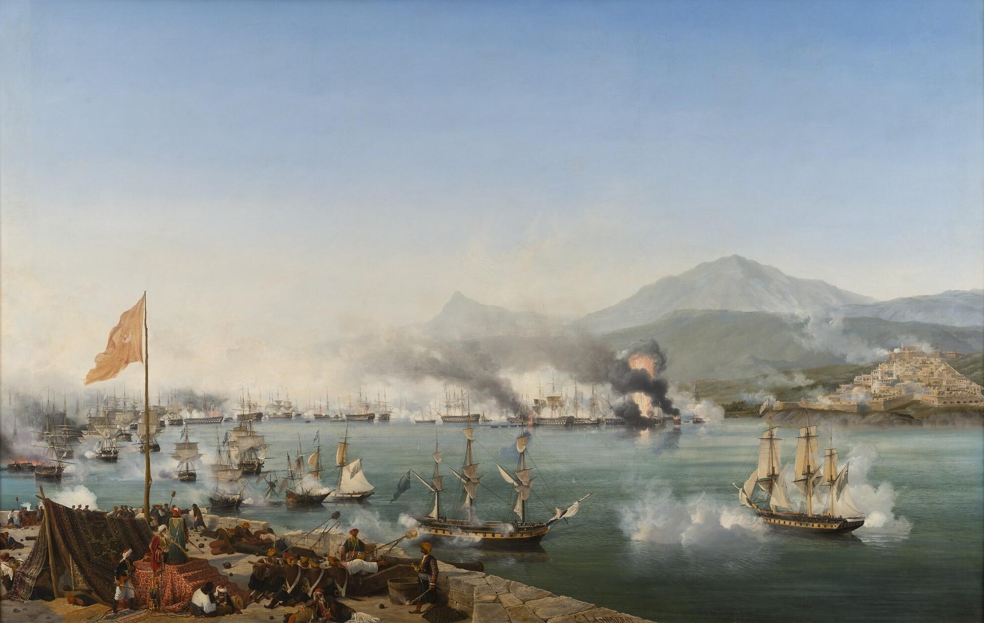 La Batalla de Navarino, en octubre de 1827, marcó el fin efectivo de la ocupación Otomana en Grecia.