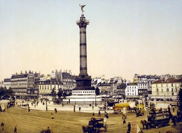 File Place De La Bastille Paris France Ca. 1890-1900