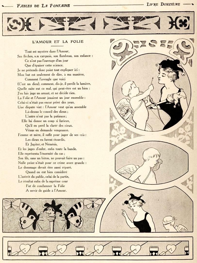 L Amour Et La Folie : amour, folie, File:Rabier, Fables, Fontaine, L'Amour, Folie.jpg, Wikimedia, Commons