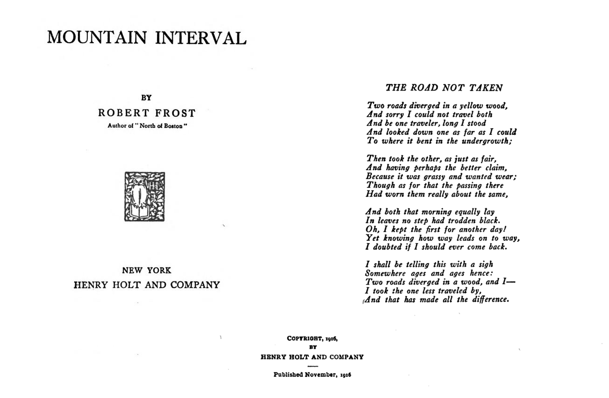 List Of Poems By Robert Frost