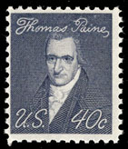 English: 1969 stamp honoring Thomas Paine