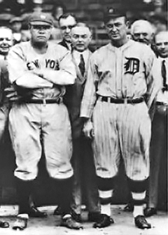 Babe Ruth and Ty Cobb