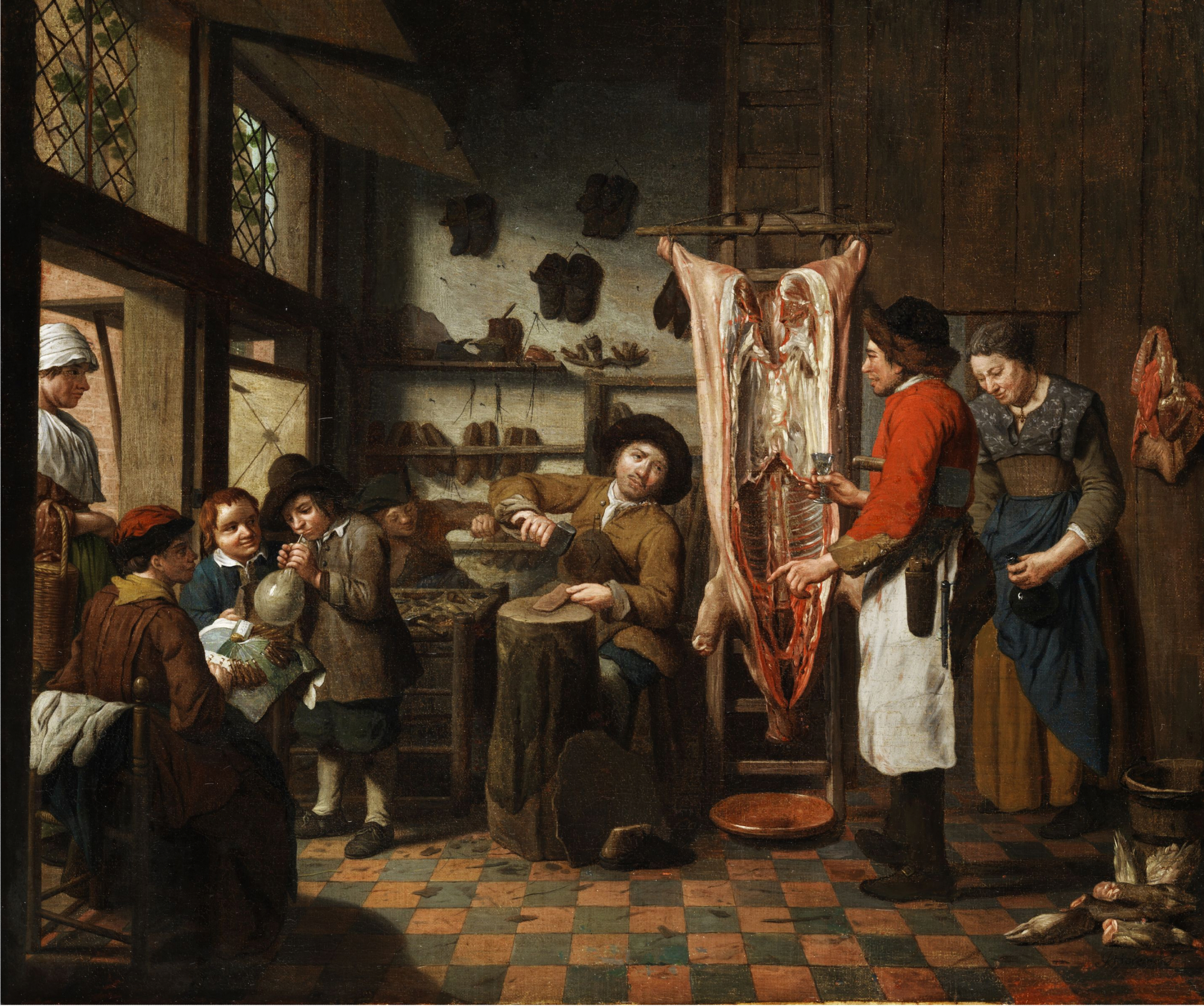 File Jan Josef I Horemans Workshop With Shoemaker Butcher