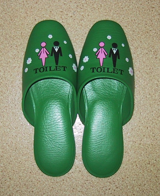 Japanese Toilet Slippers (from Wikipedia)