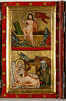 Quadtych with scenes from the life of Christ a...