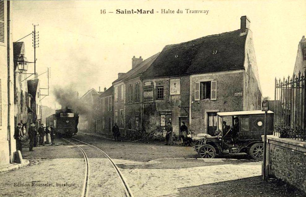 carte postale ancienne de Saint-Mard le long du GR1