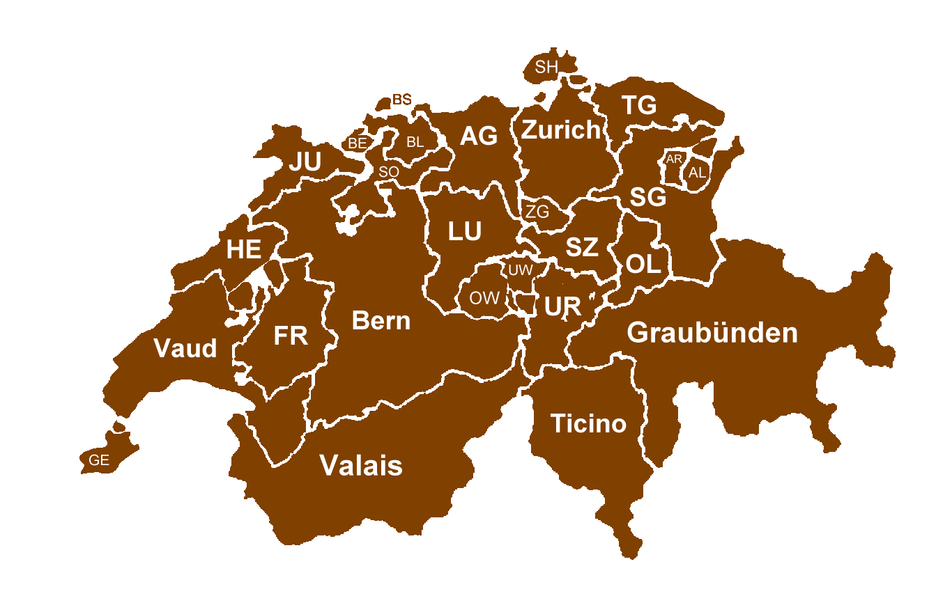 Switzerland Language Map Patric In Haid - Languages map of switzerland